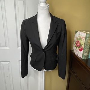 Theory Black Lined Long Sleeve Suit Blazer
